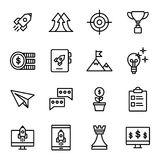 Start up line icons set. Linear symbols set Stock Photography