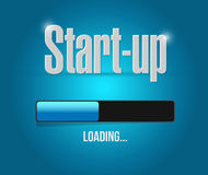 Start-up loading bar sign concept Stock Photo