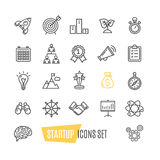 Start Up Motivation Brainstorming Icon Set. Vector Stock Image
