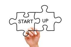 Start up Puzzle Concept Royalty Free Stock Image