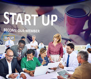 Start up Registration Member Joining Account Concept Royalty Free Stock Photo