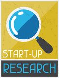Start-up Research. Retro poster in flat design Stock Photo