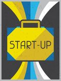 Start-up. Retro poster in flat design style Royalty Free Stock Photography
