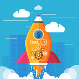 Start up rocket Royalty Free Stock Photography