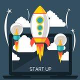 Start up rocket Stock Images