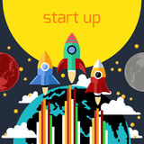 Start up rocket Royalty Free Stock Images