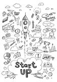 Start Up Infographics. Hand drawn Vector Illustration Stock Photography
