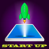Start up rocket icon. Project development Stock Images