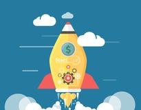 Start up Rocket Stock Image