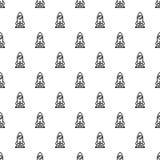 Start up rocket pattern seamless vector royalty free illustration