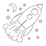 Start up rocket with stars Royalty Free Stock Photos