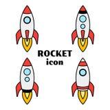 Start up. Set of rocket icons. Vector illustration stock illustration