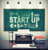 Start up strategy on board Stock Images
