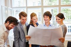 Start-up team happy with their project Royalty Free Stock Photography