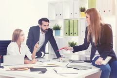 Start up team members in office Stock Images