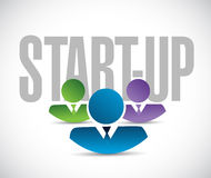 start up team sign illustration design graphic Royalty Free Stock Photography