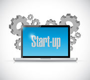 Start-up tech computer sign concept Stock Photography