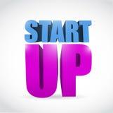 Start up text illustration design Royalty Free Stock Images