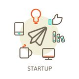 Start up  Trendy Illustrations for new businesses Stock Photos