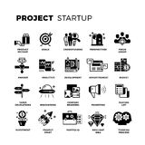 Start up, venture capital, entrepreneur vector icons set Royalty Free Stock Photo
