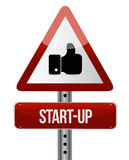 Start-up warning like sign concept illustration. Design artwork royalty free illustration