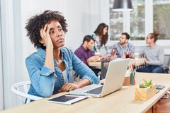 Start-Up Woman reflects on a decision Stock Photos