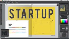 Start up Word Design Editorial Artwork Concept Stock Image