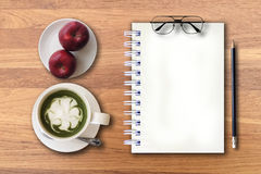 Start up your new day with fresh fruits and green tea. Start up your new day with fresh fruits and green tea for morning lifestyle stock photography