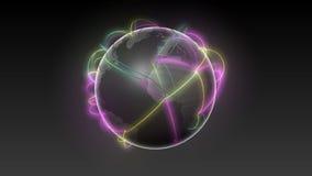 Start USA, Growing Global Network Black earth-black background 2 stock footage
