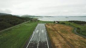 Start van een luchthaven stock video
