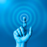 Start the wave. Finger pointing and starting a wave Stock Images