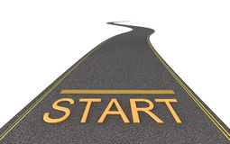 Start way. Isolated Royalty Free Stock Photos