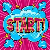Start word comic book pop art vector illustration. Start word pop art retro vector illustration. Comic book style imitation Stock Photo
