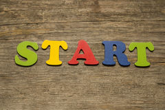 Start word concept Royalty Free Stock Photo