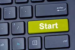 Start word on keyboard computer Royalty Free Stock Image