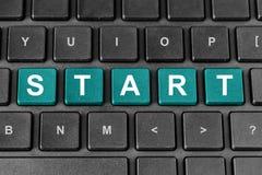Start word on keyboard Royalty Free Stock Photo