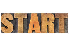 Start word typography Royalty Free Stock Image
