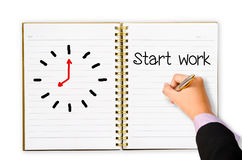 Start work concept Royalty Free Stock Photos