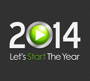 Start Year 2014. Abstract Background Royalty Free Illustration