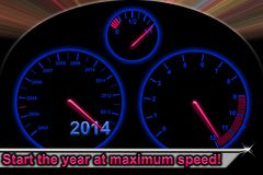 Start the year at maximum speed Royalty Free Stock Image