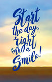 Start your day with a smile. Royalty Free Stock Photo