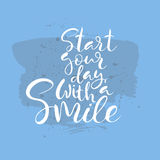 Start your day with a smile text Stock Image