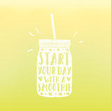 Start your day with a smoothie. Vector illustration stock illustration