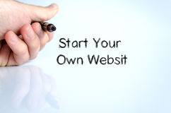 Start your own websit text concept Royalty Free Stock Photo