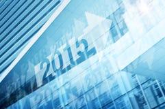 Starta året 2015 på modernt torn Arkivbilder