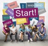 Starta att börja Startup motivationbegrepp för lansering framåtriktat royaltyfri bild