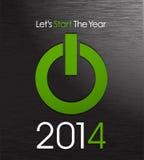 Starta det lyckliga nya året 2014 Arkivbild
