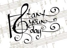 Starta din dag med musik Arkivbilder