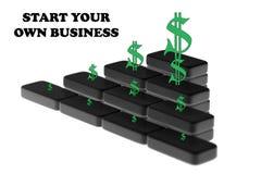 Starta din egen idé för affärsstarten stock illustrationer