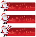 Starta en sida med jultomten vektor illustrationer